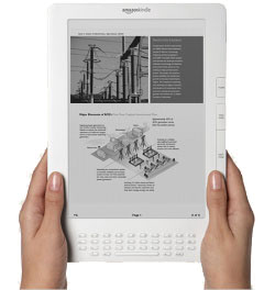 The Kindle becomes the first e-book reader