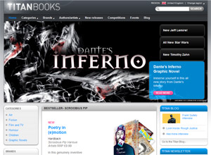 Titan Books site Launch
